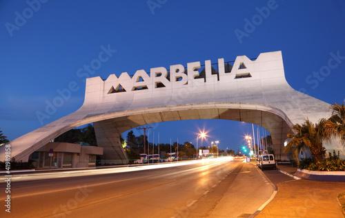 Marbella Arch illuminated at night. Andalusia, Spain - 41989858