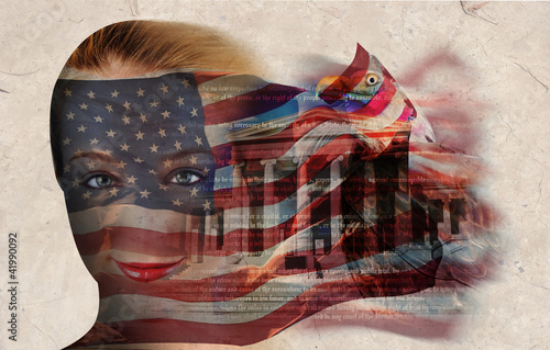 American Liberty Flag Woman
