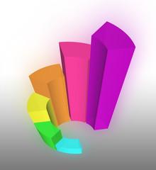 3D Growth bar graph