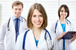 Female doctor and his team