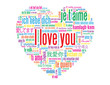 """""""I LOVE YOU"""" Tag Cloud (love card heart romance valentine's day)"""