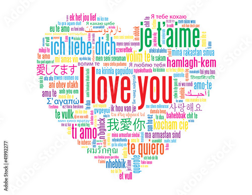 """I LOVE YOU"" Tag Cloud (love card heart romance valentine's day)"