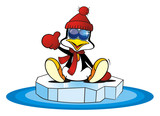 Penguin on an Ice floe