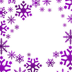 Fond de flocons violet