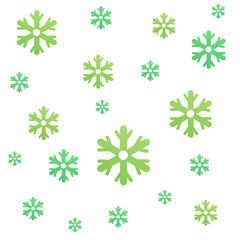 Fond de flocons vert clair et foncé
