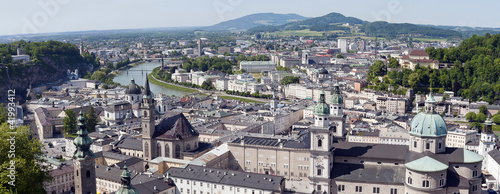 A view out over the historic city of Salzburg, Austria