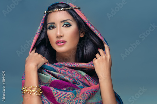 Portrait of a  beauty arabian lady in a sensual beauty portrait