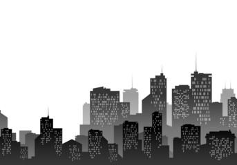 Ville en noir et blanc