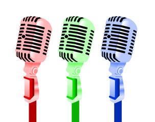 Microphones colorés