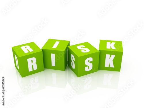 Risk Blocks isolated on white
