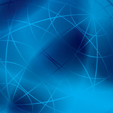 abstract blue vector background with shiny meridian lines poster