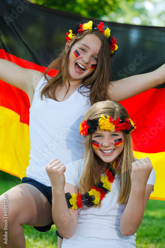 german soccer fans outdoor