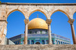 Golden Dome on the Rock Mosque in Jerusalem, Israel.