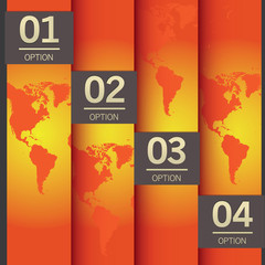 vector globe options background