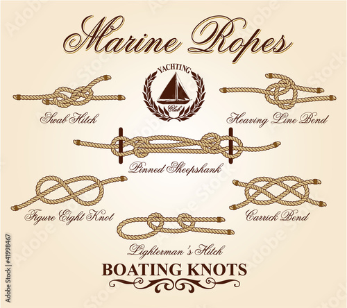 Marine knots vector elements