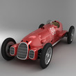 Antique Racing Car Red