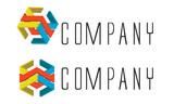 Double Modular Logo Company poster