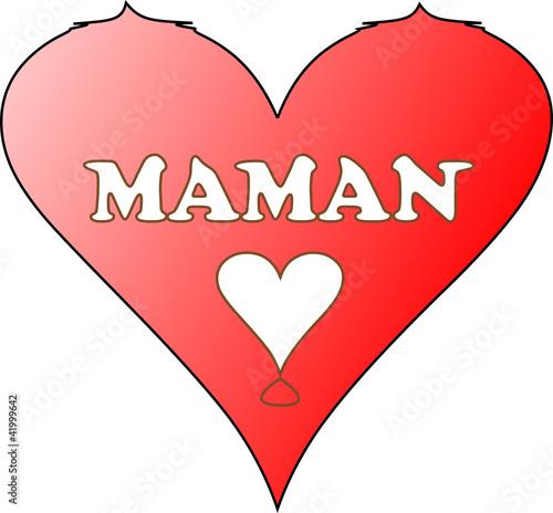 coeur pour maman de alex33270 fichier vectoriel libre de droits 41999642 sur. Black Bedroom Furniture Sets. Home Design Ideas