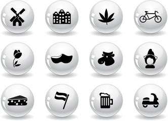 Web buttons, Dutch culture icons