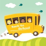 School bus, vector illustration