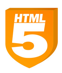 HTML5 Orange on White