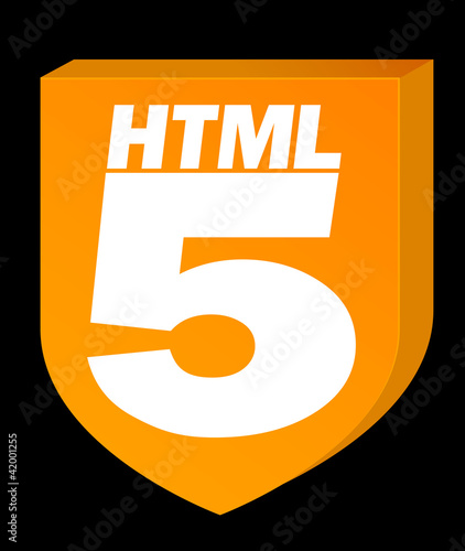 HTML5 Orange on Black