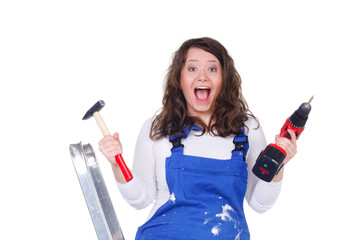 begeisterte heimwerkerin