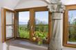 canvas print picture - Geöffnetes Fenster