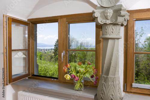 canvas print picture Geöffnetes Fenster