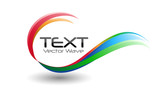 Colorful Logo Swirl Wave