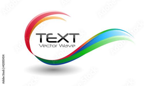 Fototapeta Colorful Logo Swirl Wave