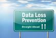 "Highway Signpost ""Data Loss Prevention"""
