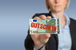 5 Eur Gutschein, business