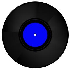 Schallplatte blau