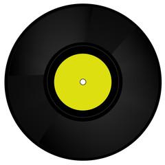 Schallplatte gelb