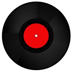 Schallplatte rot