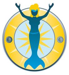 Wasserfrau Nixe Plakette