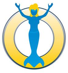 Schwimmschule Logo Signet mit Leerfeld mit QXP9 Datei