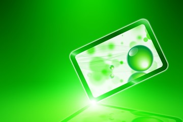 Abstract green smartphone