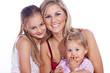 Süße Familie, Mutter mit Töchter sind glücklich