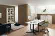 Modern Living Room Interior / Home Office