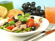 Healthy tuna salad dish