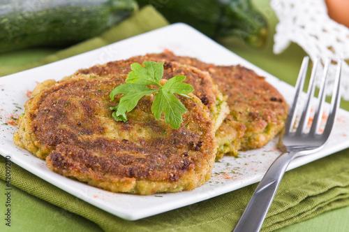 Zucchini omelettes.