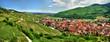 Leinwandbild Motiv Prise de vue panoramique sur le village de kaysersberg.