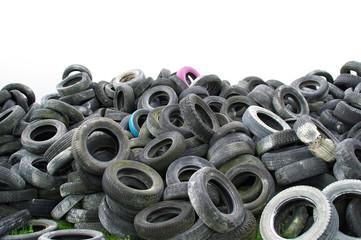 Décharge et pneus