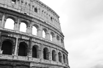 Il Colosseo in bianco e nero, Roma, Italia