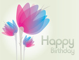 birthday invitation flowers card background