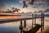 Fototapety Boat Pier and Sunrise