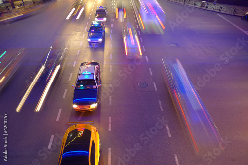 Night traffic in Shanghai