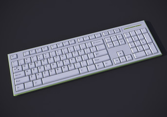 White 3D keyboard